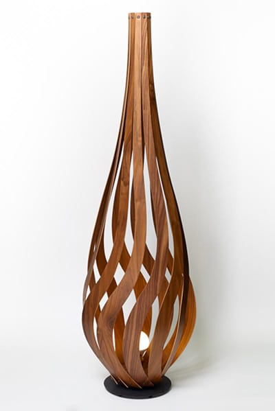 handmade wooden floor lamp nature sustainable