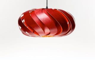 Handmade wooden light pendant nature eco sustainable