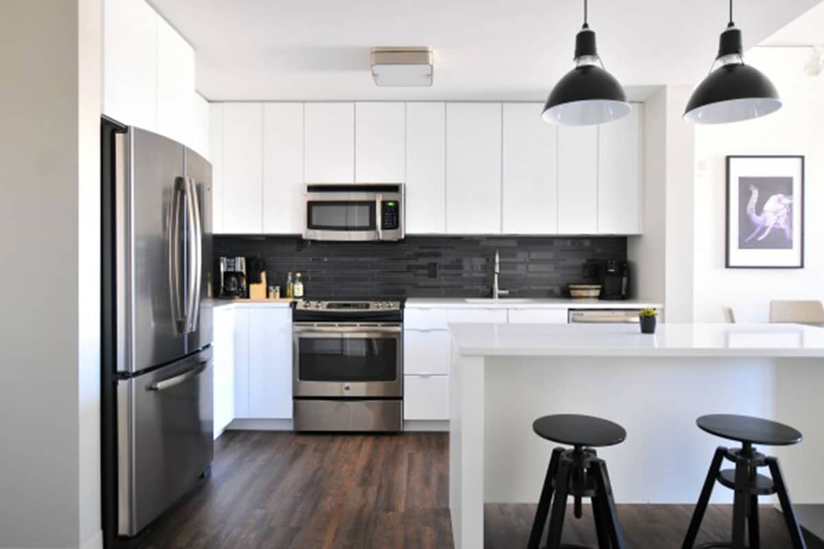 Stylish Kitchen modern black white