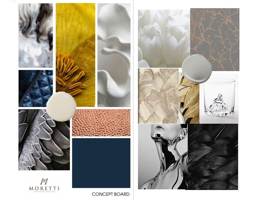 Concept board interior design