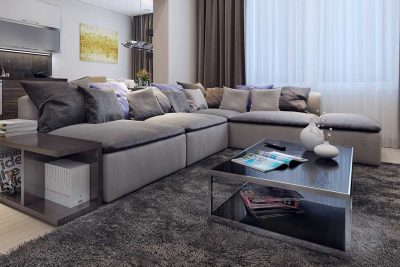 Living area cushions sofa coffee table
