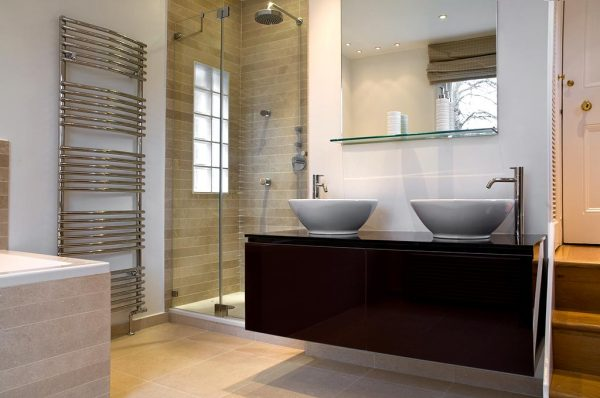 Luxury bathroom renovation vanity unit double sink bowl design