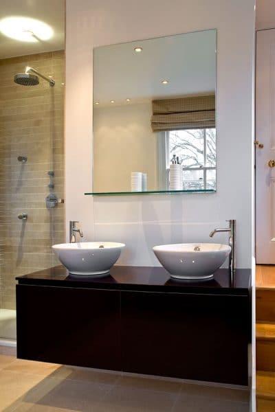 Luxury bathroom vanity unit double sink bowl design