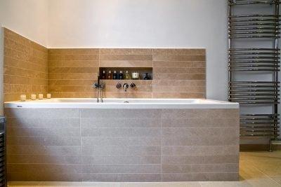 Luxury bathroom bath tube niche design