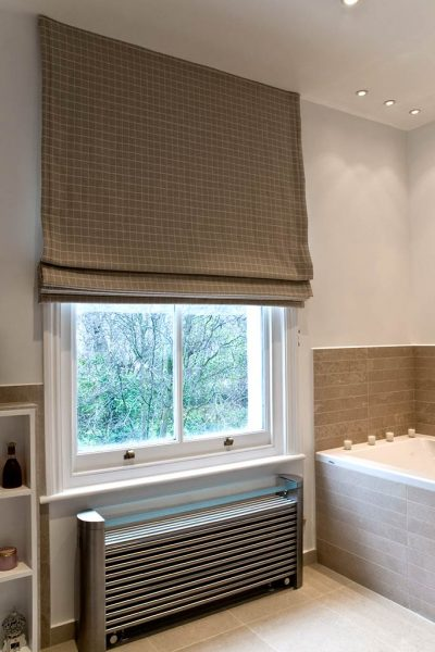 Luxury bathroom radiator curtains design