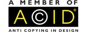 We are a member of Acid Anti Copying in Design