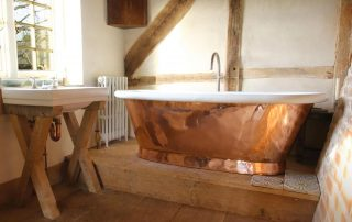 modern and classic bathroom bath tube copper