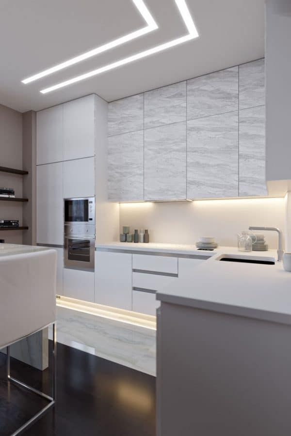 Lighting design project for a modern Kitchen