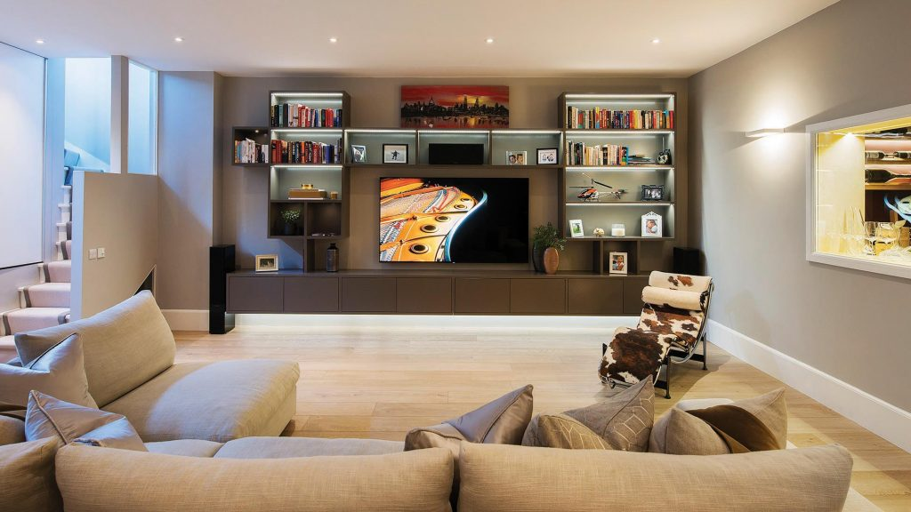 media room bespoke joinery