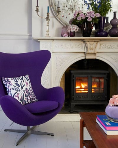 Use of Pantone Ultraviolet in the Living Area