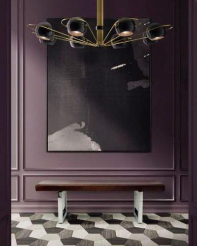 Pantone Ultra Violet in Hallway