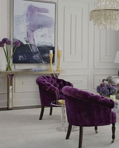 Pantone Ultra Violet 2018 in the Drawing room