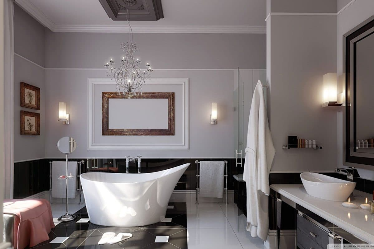 Timeless design bathroom
