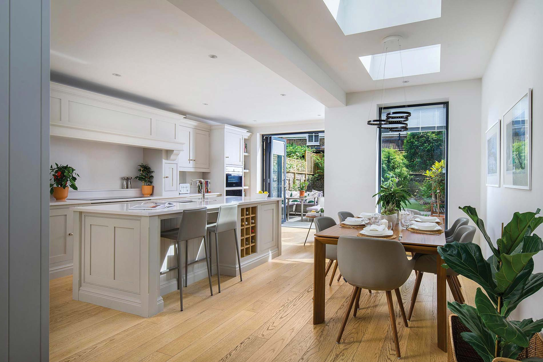 West London Chiswick Home Extension Traditional Contemporary Kitchen