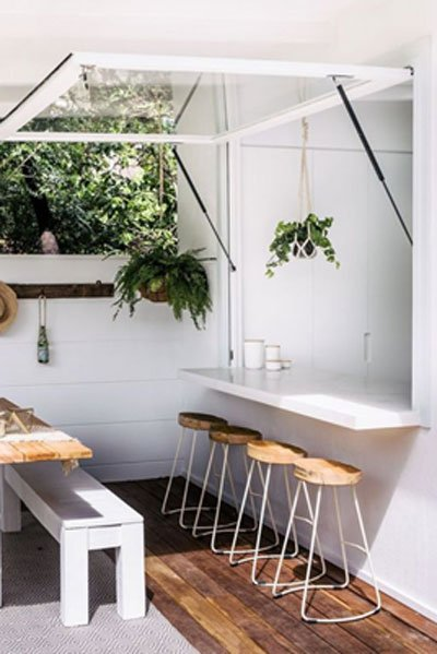 indoor outdoor kitchen garden