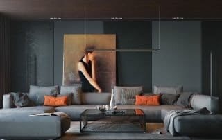 How bring space alive with artwork interior design