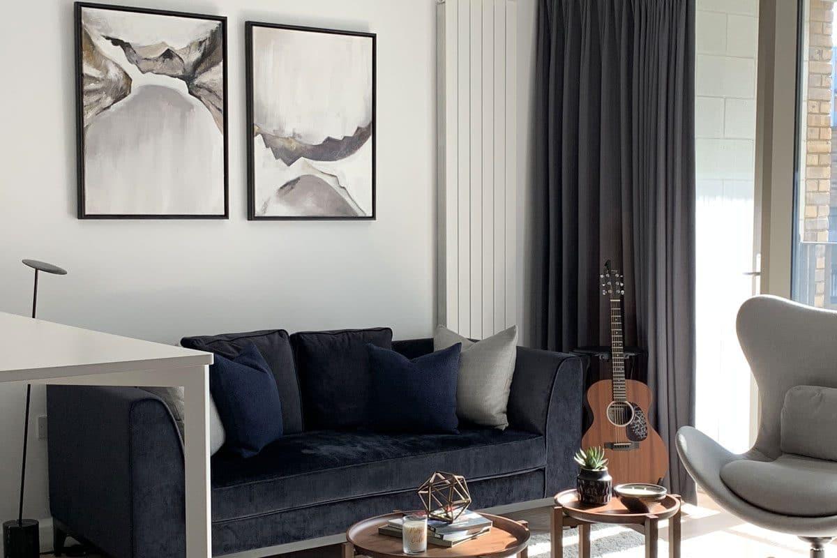 Moretti Interior Design new Development Flat Canary Wharf London