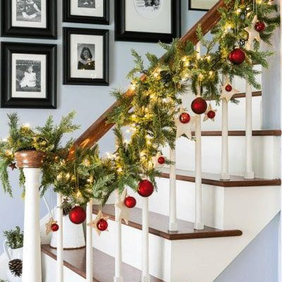 Stairs Christmas Decorations