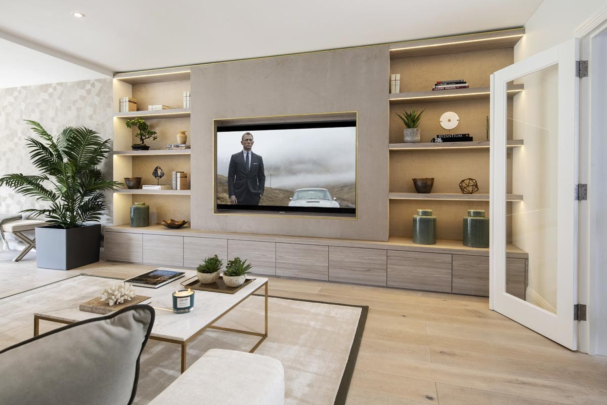 Contemporary Bespoke TV unit in Kensington