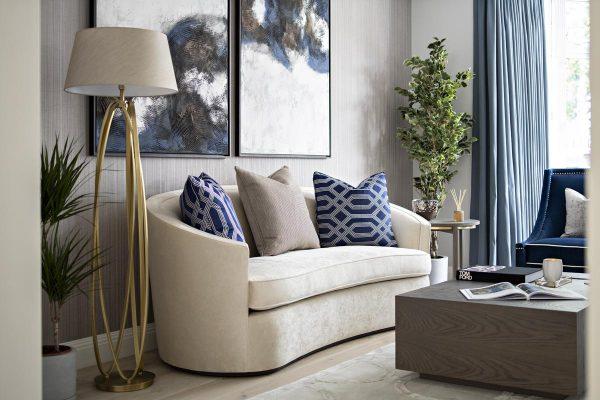 Contemporary formal living room in Kensington