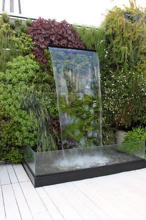 Garden waterfall designer unknown