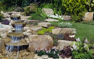 A garden water feature